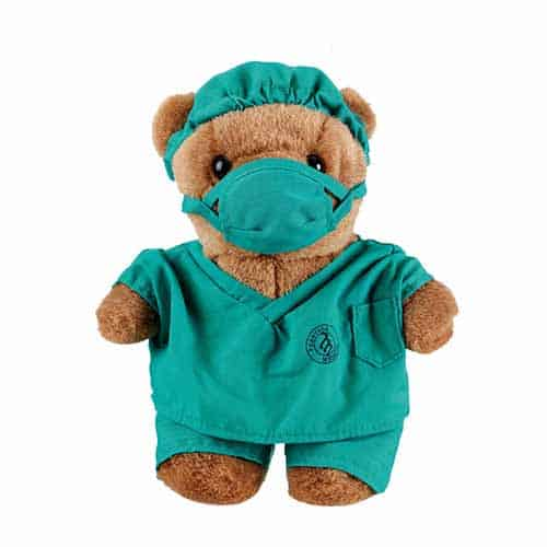 1841-TEA, Doctor Scrub Bear, Gift Items, Gifts, Teddy Bear, Prestige Medical, Teal, Plush, Bear