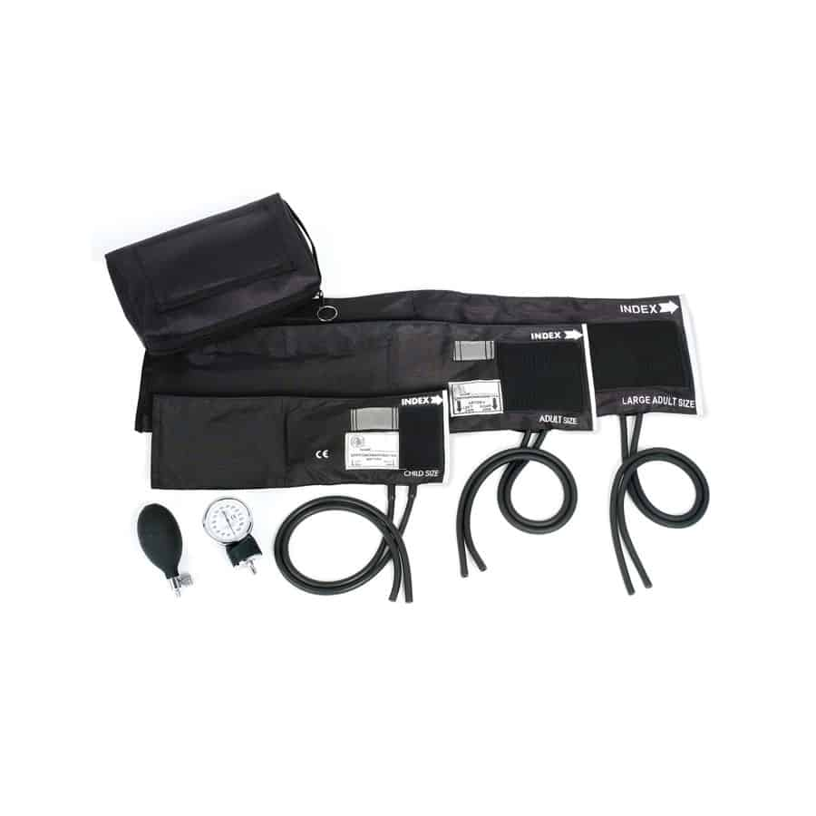 3-in-1 Aneroid Sphygmomanometer Set with Carrying Case