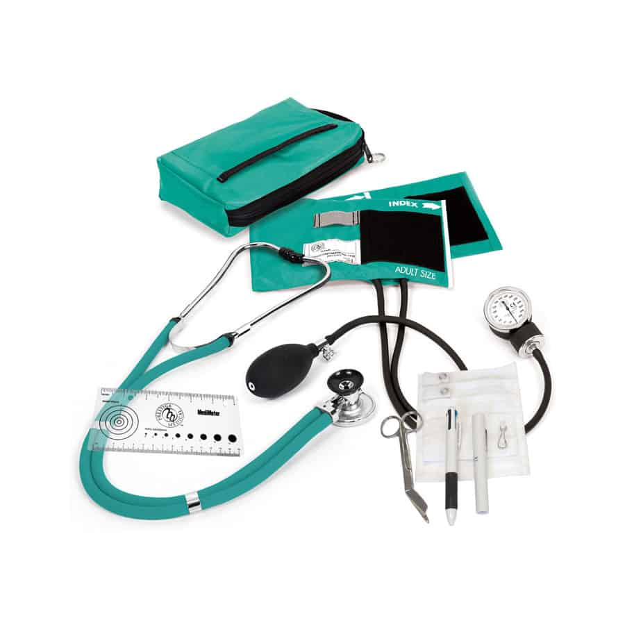Aneroid Sphygmomanometer / Sprague-Rappaport Nurse Kit® • Same features as the A2 kit but also includes a pocket organizer loaded with essential nursing tools